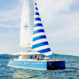 catamaran tour racha and coral island