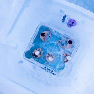 snow sauna lapland finland