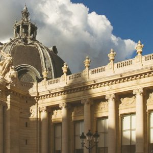 a view of the upper part of the Petit Palais' exteriors