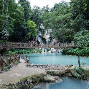 Kuang Si Waterfall Shared Minibus Ticket