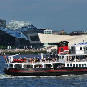 mersey ferries river explorer cruise boat cruising on river