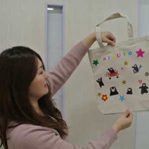 finished kumamon tote bag