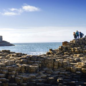 people touring giant's causeway