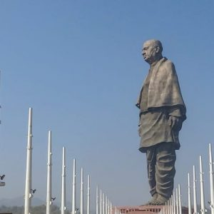 side view of the statue of unity