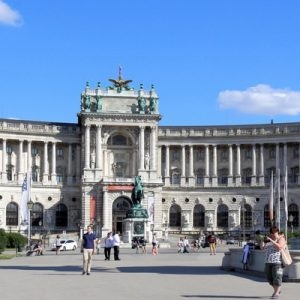 The Hofburg at daytime at the vienna unesco day tour from prague