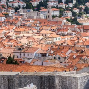 a view of Dubrovnik and its medieval walls