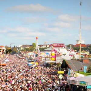thousand of crowds in oktoberfest