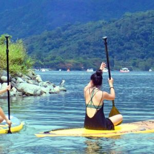 paddle boarding in Taipei, SUP in Liyu Lake, water activities for group Taiwan,