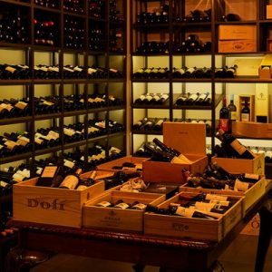 inside a winery