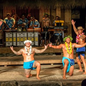 men performing hula