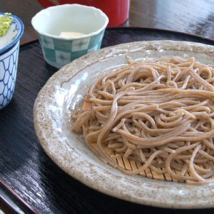 cooked soba noodles