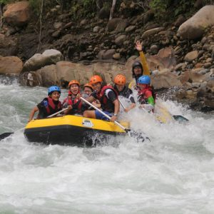 white rafting in sabah