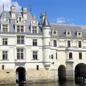 Château de Chenonceau with a view of its moat