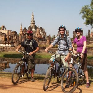 guided bicycle tours sukhothai