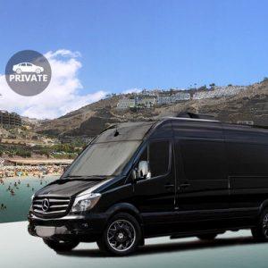 black minibus for Private Gran Canaria Airport (LPA) Transfers to Maspalomas, Puerto Rico, and More