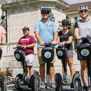 tour group on a segway