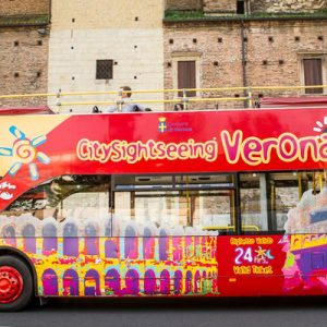 a parked Verona City Sightseeing Bus