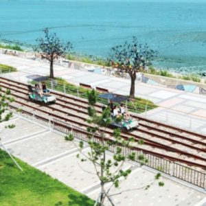 seaside railway bike on ganghwa island