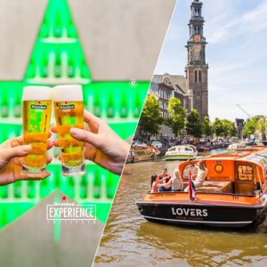 glass of beer heineken experience and canal cruise boat