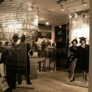 an exhibit in Oskar Schindler's Factory
