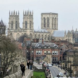 a view of the York Minster Cathedral