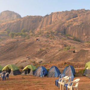 tents for the ramanagara rock side camping experience
