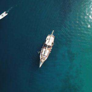 boat cruising in ocean