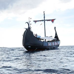 viking ship sailing tenerife coast