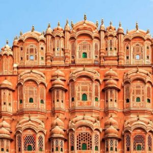 view of Hawa Mahal in Jaipur