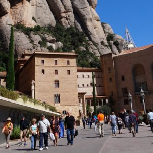 montserrat buildings and mountain