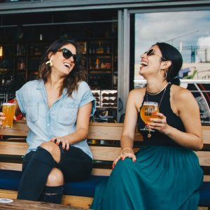 tourists enjoy craft beer in poland