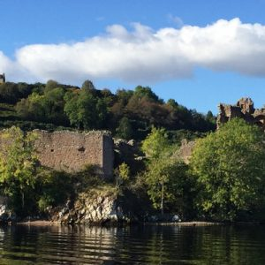 View of urquhart castle from loch ness
