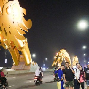 Da Nang City Tour and Han Cruise by Night with Aodai Rider