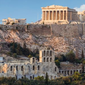 a panoramic view of the Acropolis
