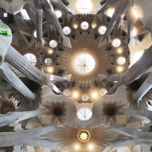 interiors of the Sagrada Família