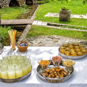 "an ""under the iron bell"" lunch being served somewhere in the Konavle Valley"