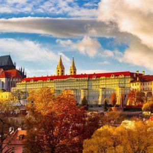 prague city panoramic view