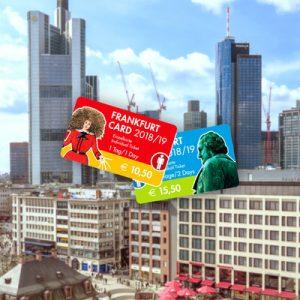 frankfurt travel card with frankfurt cityscape