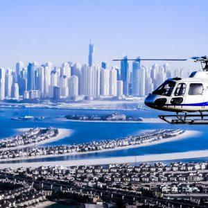 迪拜直升机观光