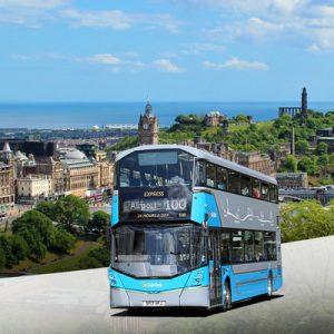 爱丁堡机场(EDI)至市区Airlink 100接驳巴士