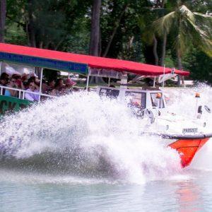 新加坡水陆两栖鸭子船