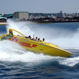 搭乘冲绳喷射船