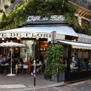 左岸徒步游,午夜巴黎取景地,花神咖啡