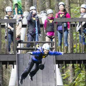 北海道丛林飞跃体验
